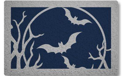 Tapete Personalizado Morcegos – Azul Marinho